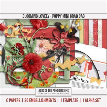 Blooming Lovely - Poppy Mini Grab Bag Digital Art - Digital Scrapbooking Kits