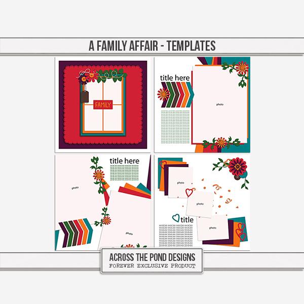 A Family Affair - Templates Digital Art - Digital Scrapbooking Kits