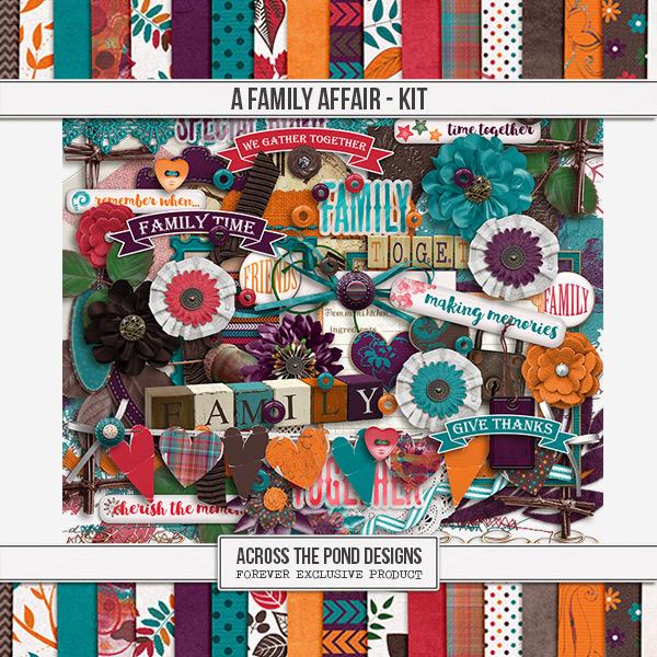 A Family Affair - Page Kit Digital Art - Digital Scrapbooking Kits