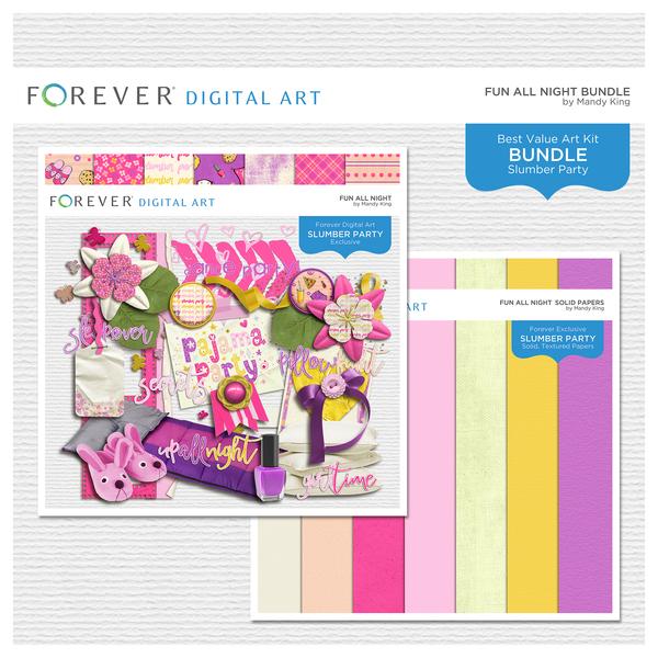 Fun All Night Bundle Digital Art - Digital Scrapbooking Kits