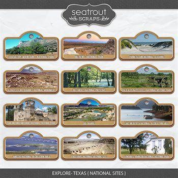 Explore Texas - National Sites Digital Art - Digital Scrapbooking Kits