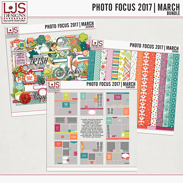 Photo Focus 2017 - March Bundle Digital Art - Digital Scrapbooking Kits