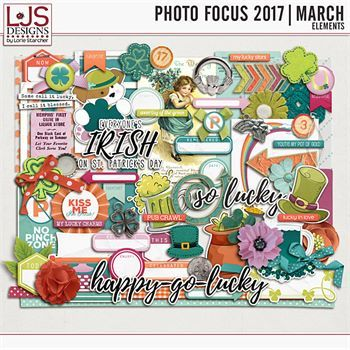 Photo Focus 2017 - March Elements Digital Art - Digital Scrapbooking Kits