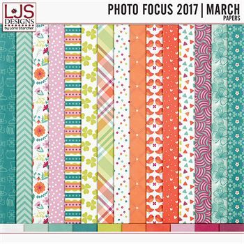 Photo Focus 2017 - March Papers Digital Art - Digital Scrapbooking Kits