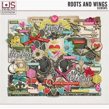 Roots and Wings - Elements Digital Art - Digital Scrapbooking Kits