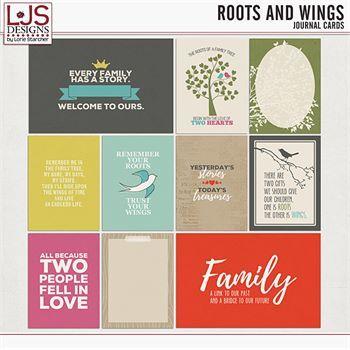 Roots and Wings - Journal Cards Digital Art - Digital Scrapbooking Kits