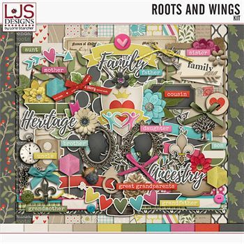 Roots and Wings - Kit Digital Art - Digital Scrapbooking Kits