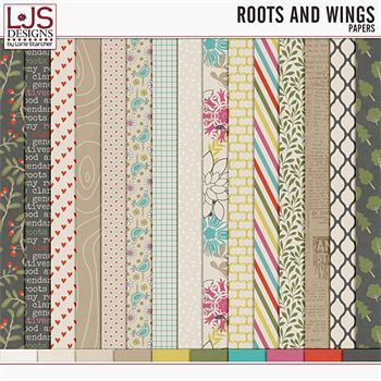 Roots and Wings - Papers Digital Art - Digital Scrapbooking Kits
