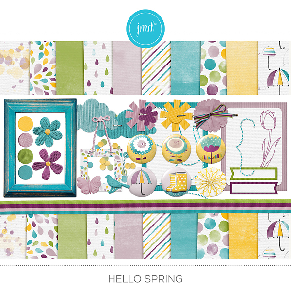 Hello Spring Digital Art - Digital Scrapbooking Kits