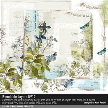 Blendable Layers No. 17 Digital Art - Digital Scrapbooking Kits