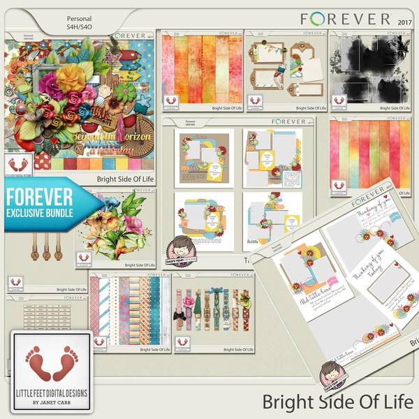 Bright Side Of Life Bundle Digital Art - Digital Scrapbooking Kits