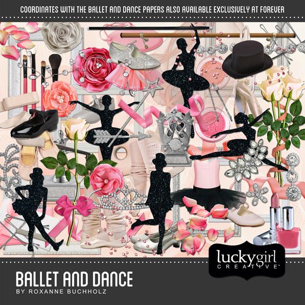 Ballet And Dance Digital Art - Digital Scrapbooking Kits