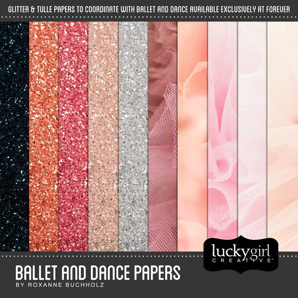 Ballet And Dance Papers Digital Art - Digital Scrapbooking Kits