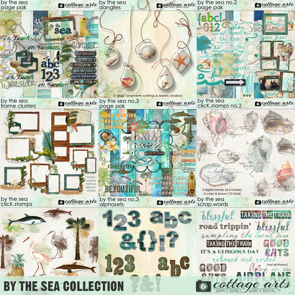 By the Sea Collection  Digital Art - Digital Scrapbooking Kits