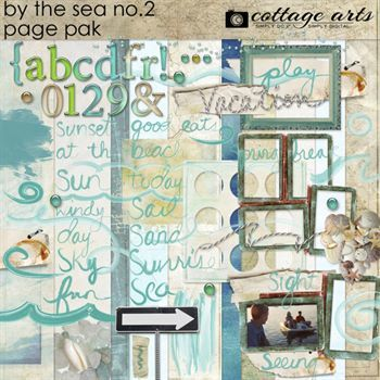 By The Sea 2 Page Pak Digital Art - Digital Scrapbooking Kits