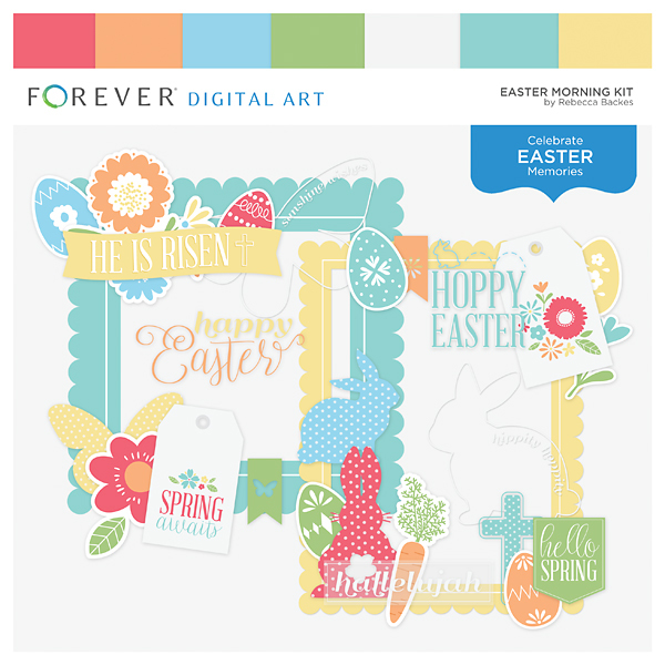Easter Morning Kit Digital Art - Digital Scrapbooking Kits