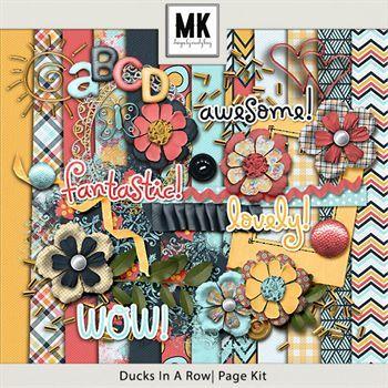 Ducks In A Row - Page Kit Digital Art - Digital Scrapbooking Kits