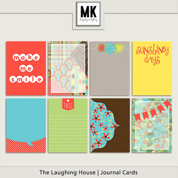 The Laughing House - Journal Cards Digital Art - Digital Scrapbooking Kits