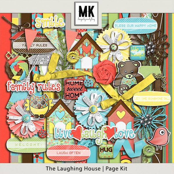 The Laughing House - Page Kit Digital Art - Digital Scrapbooking Kits