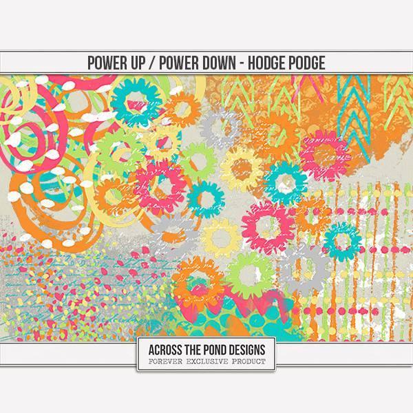Power Up & Power Down - Hodgepodge Digital Art - Digital Scrapbooking Kits