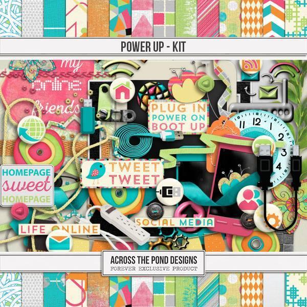 Power Up - Page Kit Digital Art - Digital Scrapbooking Kits