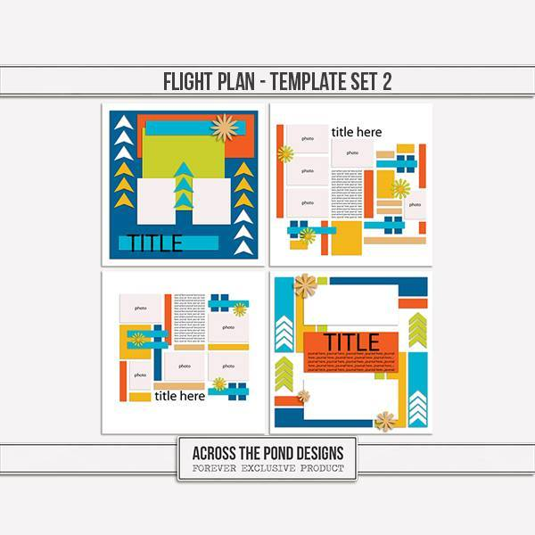 Flight Plan - Templates 2 Digital Art - Digital Scrapbooking Kits