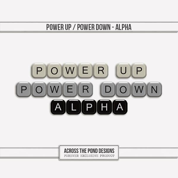 Power Up & Power Down - Alpha Digital Art - Digital Scrapbooking Kits