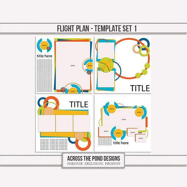 Flight Plan - Templates 1 Digital Art - Digital Scrapbooking Kits