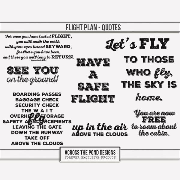 Flight Plan - Quotes Digital Art - Digital Scrapbooking Kits