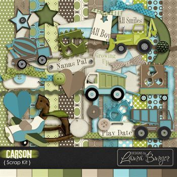 Carson Scrap Kit Digital Art - Digital Scrapbooking Kits