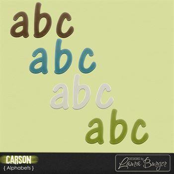 Carson Alphabets Digital Art - Digital Scrapbooking Kits