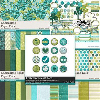 Chelsearae Complete Collection Digital Art - Digital Scrapbooking Kits