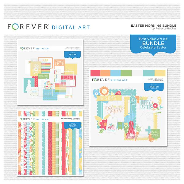 Easter Morning Bundle Digital Art - Digital Scrapbooking Kits