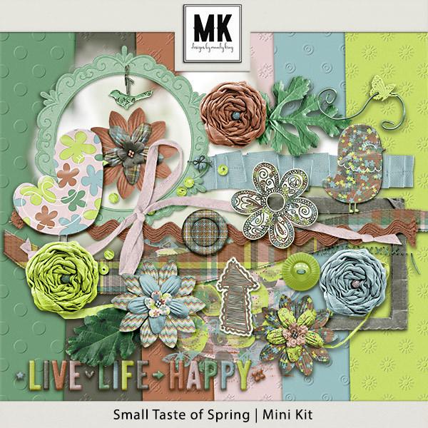 Small Taste of Spring Mini Kit Digital Art - Digital Scrapbooking Kits
