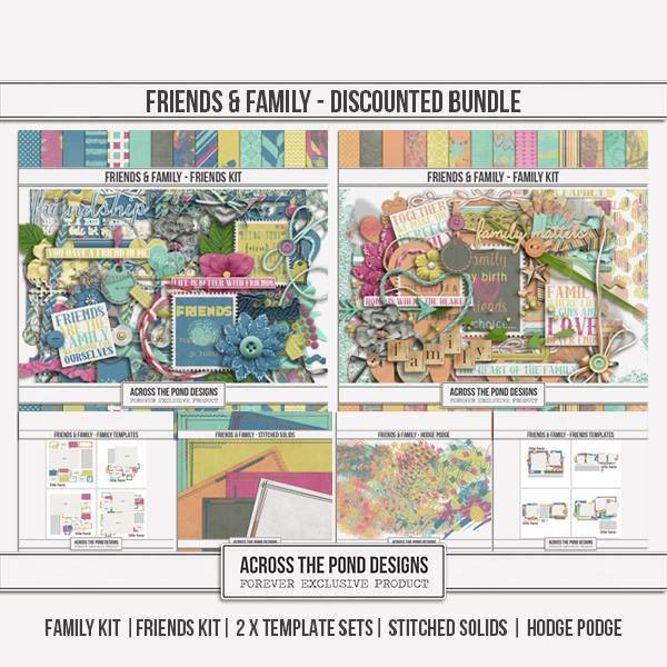 Friends & Family - Discounted Bundle Digital Art - Digital Scrapbooking Kits