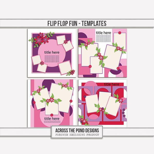 Flip Flop Fun - Templates Digital Art - Digital Scrapbooking Kits