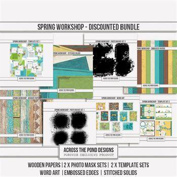 Spring Workshop - Discounted Bundle Digital Art - Digital Scrapbooking Kits