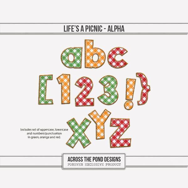 Life's A Picnic - Alpha Digital Art - Digital Scrapbooking Kits