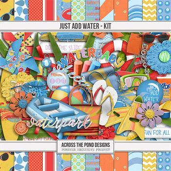 Just Add Water - Page Kit Digital Art - Digital Scrapbooking Kits