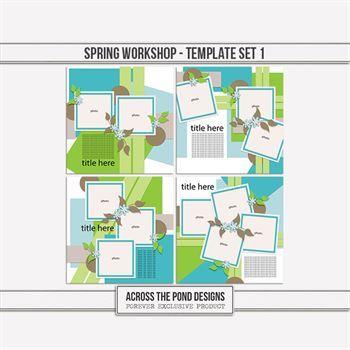 Spring Workshop - Template Set 1 Digital Art - Digital Scrapbooking Kits