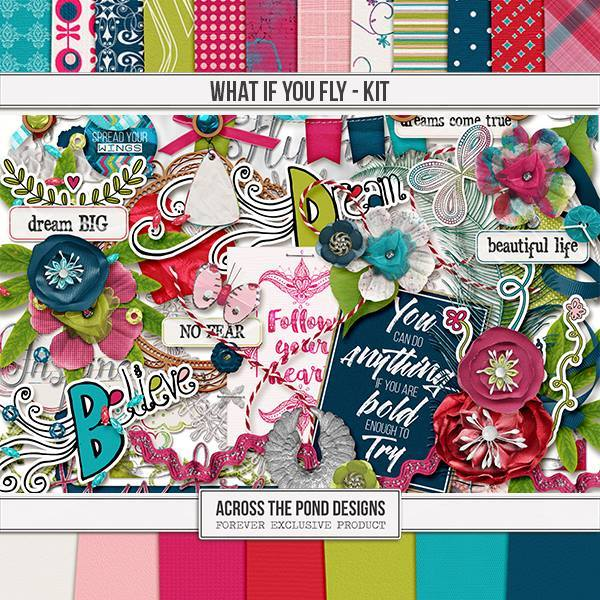 What If You Fly - Page Kit Digital Art - Digital Scrapbooking Kits