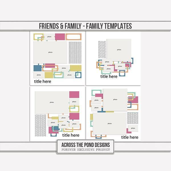 Friends & Family - Family Templates Digital Art - Digital Scrapbooking Kits