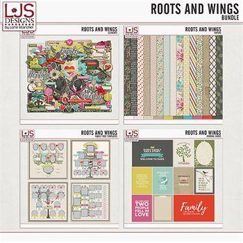 Roots And Wings - Bundle Digital Art - Digital Scrapbooking Kits