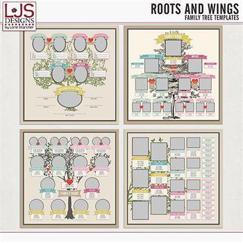 Roots And Wings - Templates Digital Art - Digital Scrapbooking Kits