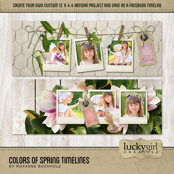 Colors Of Spring Timelines Digital Art - Digital Scrapbooking Kits