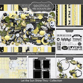 Let The Sun Shine Thru Discounted Bundle Digital Art - Digital Scrapbooking Kits