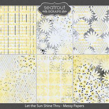 Let The Sun Shine Thru Messy Papers Digital Art - Digital Scrapbooking Kits