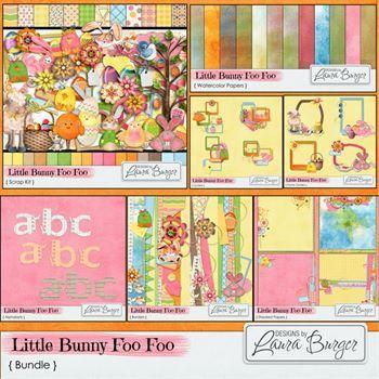 Little Bunny Foo Foo Bundle Digital Art - Digital Scrapbooking Kits