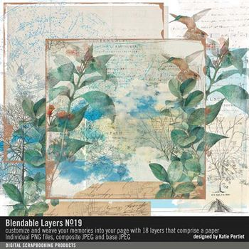 Blendable Layers No. 19 Digital Art - Digital Scrapbooking Kits