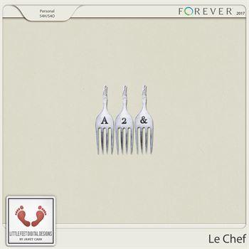 Le Chef Alpha Digital Art - Digital Scrapbooking Kits